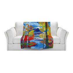 DiaNoche Designs - Fleece Throw Blanket by Hooshang Khorasani - Route to Respite - Original Artwork printed to an ultra soft fleece Blanket for a unique look and feel of your living room couch or bedroom space.  DiaNoche Designs uses images from artists all over the world to create Illuminated art, Canvas Art, Sheets, Pillows, Duvets, Blankets and many other items that you can print to.  Every purchase supports an artist!