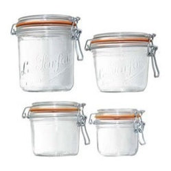 Le Parfait French Wide-Mouth Glass Canning Jar With Gasket and Lid, 35-Ounce