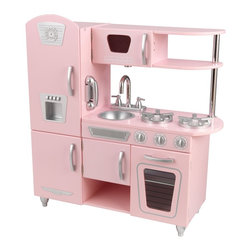 KidKraft - Pink Vintage Kitchen by Kidkraft - Bon App tit! Our Vintage Kitchen in Pink lets kids pretend they are cooking big feasts for the whole family. With its close attention to detail and interactive features, this adorable kitchen would make a great gift for any of the young chefs in your life.