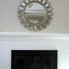 Traditional Family Room Fireplace with Updated Wall Color & New Screen