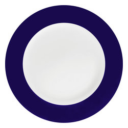 Konitz - Colors Set of 2 Salad Plates - Dark Blue - You make a point to serve salads to your crew. Now go the extra mile and frame that freshness on these simply elegant two-tone salad plates (sold in pairs).