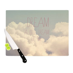 "Kess InHouse - Rachel Burbee ""Dream of Me"" Tan White Cutting Board (11"" x 7.5"") - These sturdy tempered glass cutting boards will make everything you chop look like a Dutch painting. Perfect the art of cooking with your KESS InHouse unique art cutting board. Go for patterns or painted, either way this non-skid, dishwasher safe cutting board is perfect for preparing any artistic dinner or serving. Cut, chop, serve or frame, all of these unique cutting boards are gorgeous."