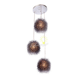 Urchin 3 Light Cluster Pendant - Sea urchins are simple, geometric-shaped creatures with telltale barbs that inhabit all oceans. They are also creatures that inspire poetic words and light fixtures alike.