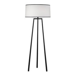 Robert Abbey - Shinto Floor Lamp by Robert Abbey | Lightology - This lamp takes the typical tripod base and gives it new, Japanese-inspired lines. The result is fresh, modern, and up-to-date.