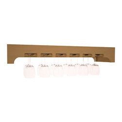 Wine Racks America - Stemware Glass Rack with Arched Panels in Pine, Oak - Our stemware rack with an arched front panel is a classy way to display your finest crystal. Designed to be installed over any Wine Racks America Tasting Table, create an intimate and functional tasting station. Gracefully displays 18 wine glasses. Your satisfaction is guaranteed.