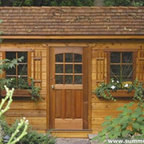 Palmerston Shed - Have a Hansel and Gretel shed in your back yard. This is a great looking way to have an indoor workspace with some character. For those of us who don't have a DIY bone in our body, this shed looks custom and has great details like flower boxes and shutters.