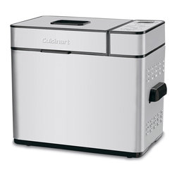 Cuisinart - 2-Lb. Nic Bread Maker - Look forward to fresh bread with every meal! This bread maker allows for customized loafs with settings for crust colors, loaf sizes and 12 pre-programmed menu options. It even has a 13-Hour Delay Start function, so it's easy to prep ahead of time.   14.5'' W x 12.5'' H x 7.5'' D Metal 3-year limited warranty Imported
