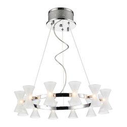 Iberlamp - Iberlamp C308-12-FR Kim 12 Light 1 Tier Chandelier - Features: