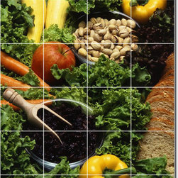 Picture-Tiles, LLC - Fruits Vegetables Photo Custom Tile Mural 29 - * MURAL SIZE: 36x24 inch tile mural using (24) 6x6 ceramic tiles-satin finish.