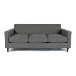 Liberty Manufacturing Company - Jackson Sofa, Carbon - Classic, clean and modern.