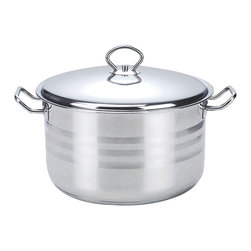 None - Alpine Cuisine Stainless Steel 11-quart Dutch Oven - Constructed from durable scratch-resistant stainless steel,this dutch oven will make a great addition to your bathroom. Featuring a non-stick surface,this dishwasher-safe dutch oven is perfect for making your favorite meals.