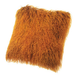 Sheepskin Pillows Tibetan Mongolian Lambskin Fur Cushions - Tibetan Lambskin Throw Pillows Fur Cushions 16' Square