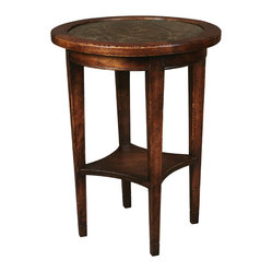 Zia Round Eglomise Side Table