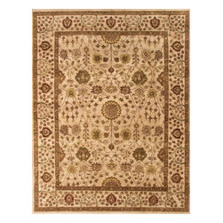 Rugsville - Rugsville Persian-style Vegetable dyes Wool 10301-9x12 Rug - Rugsville are proud to offer our artisan-made rugs - each is hand-woven and washed for heft, beautiful luster and subtle color. Handcrafted of pure, yarn-dyed wool by artisan rug makers.