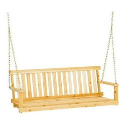 Jack Post Company - Jennings 4' Porch Swing Seat - Traditional porch swing seat. Includes chain hanging kit.