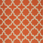 Jaipur Rugs - Flat-Weave Moroccan Pattern Wool Orange/Ivory Area Rug - An array of simple flat weave designs in 100% wool - from simple modern geometrics to stripes and Ikats. Colors look modern and fresh and very contemporary. Origin: India