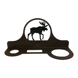 Village Wrought Iron - Village Wrought Iron HD-19 Moose Hair Dryer Rack - Decorative, functional and long lasting handcrafted products for your home carefully made using the finest materials and time-tested methods of craftsmanship. Quality and durable coated products have a baked on powder coating to ensure that you may enjoy each piece for many years. Toilet Tissue Holder Measurements Are Approximate. Proudly crafted in the USA. Material is Handcrafted Iron. Finish is a Flat Black Powder Coated Iron for that long lasting appeal. Dimensions are approximately: 11 In. W x 5 In. H x 4 In. D. Openings are 1 1/2 In Round 2 1/2 In. x 1 In. Rectangle 2 3/4 In. Round. Silhouette Sizes Vary Slightly. Proudly crafted in the USA