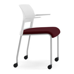 Steelcase - Steelcase Move Multi-Use Chair, Platinum Frame w/Arms & Casters - Here's a movable first! Flexors under the cushion conform to your body and curve with your every move for unsurpassed comfort. Plus, casters let you roll with it, anywhere.