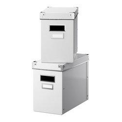 Jon Karlsson - KASSETT Box with lid - Box with lid, white
