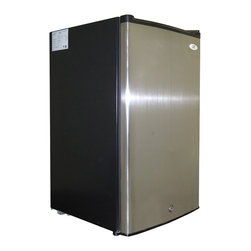 SPT - SPT Energy Star 3.0 cu.ft. Stainless Steel Upright Freezer - Compact, flush back design offers 3.0 cu.ft. of storage, perfect for those with tight spaces. Reversible door offers versatility. Features 3 pull out baskets, adjustable thermostat, lock and key
