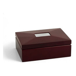 Bey-Berk - Bey-Berk International Mahogany Box with Divider - R53 - Shop for Decorative Boxes from Hayneedle.com! The Bey-Berk International Mahogany Box with Divider demands attention with its simplistic design and appealing appearance. This jewelry box comes with a divider where you can segregate your essentials. Clean sculpture and artistry enhance the visual appeal of the lid. Its attractive finish elevates the richness of the box while adding to its warm appearance. What makes it unique is that it provides an organized space for storing your priceless possessions.About Bey-Berk InternationalThis quality item is created by Bey-Berk. For more than 20 years Bey-Berk International has crafted and hand-selected unique gifts and accessories from around the world to meet the demands of discerning customers. With its line of elegant and distinctive products Bey-Berk has established itself as a leader in luxury accessories.
