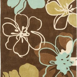 Safavieh - Safavieh Modern Art MDA611A 5' x 8' Brown, Multi Rug - Safavieh's Modern Art collection is designed for casual lifestyle consumers who want area rugs that combine high style with easy-care. Made of long-wearing polyester for crips color and pattern definition, the collection is hand-tufted in China in original designs that make bold, detailed art statements in any room and on every floor.