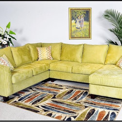 Chelsea Home Furniture - Angie 4 pc. Sectional - Mission Apple - 440-4pc Sec-MA - Frames are corner blocked and constructed with Solid Oak and Select Hardwoods for years of dependable use.