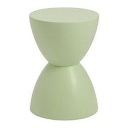 "Eurostyle - Eurostyle Sallie Stool in Green Tea - Stool in Green Tea belongs to Sallie Collection by Eurostyle Fully assembled. Available in green tea, melon, black and white color. Light weight and stackable. Durable construction. Easy to clean. Use as stool or small table. ABC plastic material. Carved line. Include 1 stool. Dimension W: 12"" D: 12"" H: 17"". Stool (1)"