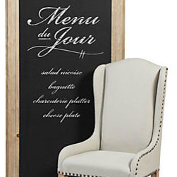 Z Gallerie - Chalkboard - Create your own messages, list everything from the menu du jour to shopping lists on our Pine Framed Chalkboard. The black surface is framed with a thick carved pine wood ready to hang horizontally or vertically.