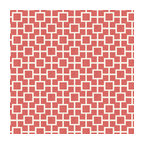 Coral Square Trellis Linen Fabric - Modern coral pink geometric trellis on white lightweight linen. Who knew being hip could be so square?Recover your chair. Upholster a wall. Create a framed piece of art. Sew your own home accent. Whatever your decorating project, Loom's gorgeous, designer fabrics by the yard are up to the challenge!