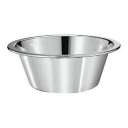 "Rosle - Rosle Conical Bowl - 1.6 qt. - What distinguishes ROSLE products from others, is the careful attention we give to every detail. Every one of these flawless utensils has been streamlined to suit a special task and carries out its function superbly. A combination of maximum performance with timeless design. ROSLE utensils are carefully manufactured and leave the premises only after passing a strict quality control. They are made with the best materials, primarily 18/10 stainless steel because it is hygienic, neutral to taste and smell, and is of almost limitless durability. ROSLE has won several design awards and are without doubt one of the best kitchen utensils in the world.Working bowl with flat base and beaded edge Firm stand, stable construction and ergonomic handling Stackable, Capacity: 1.6 qt. Dimensions: 7.9"" (20.0 cm) . 5-year warranty. Made in Germany."