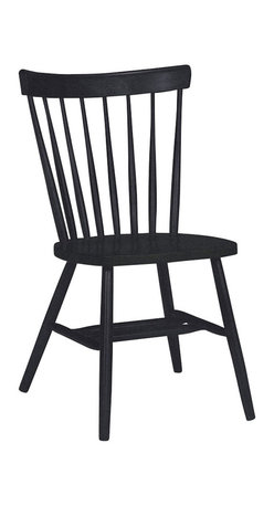 International Concepts - International Concepts Copenhagen Chair in Black - International Concepts - Dining Chairs - C46385 - This chair has a light simplistic Scandinavian look to it, that will look good with any type of decor. Use the chair as an addition to your dining room or kitchen.
