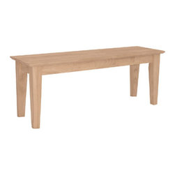International Concepts - International Concepts Be-47S Shaker Style Bench - Shaker Style Bench by International Concepts   Bench (1)