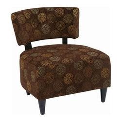 Office Star - Office Star Avenue Six Boulevard Chair in Blossom Chocolate - Boulevard chair in blossom Chocolate