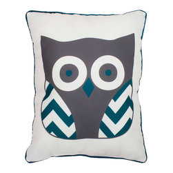 THRO - Deep Lake Reversible Owl Pillow - Add enchanting character to your d̩cor with this darling owl pillow, which offers plush comfort and a handy reversible feature. �� 14'' W x 18'' H Polyester Spot clean Imported