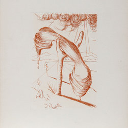 Salvador Dali, Soft Telephone (Color), Etching - Artist:  Salvador Dali, Spanish (1904 - 1989)