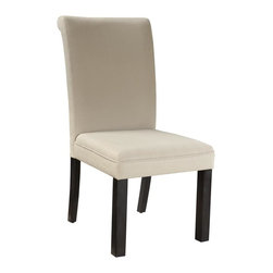 Standard Furniture - Standard Furniture Gateway White Parsons Chair in Dark Chicory Brown [Set of 2] - Impressive proportions and bold styling give Gateway Dining a dynamic contemporary personality.