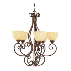 Trans Globe Lighting - Trans Globe Lighting 7217 ROB Chandelier In Rubbed Oil Bronze - Part Number: 7217 ROB