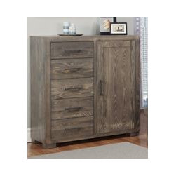 Steel City Tall Dresser - Handstone. 46w x 18d x 49h. Available for order at Warehouse 74.