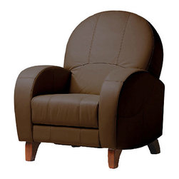 Adagio Nursery Glider Recliner - It is amazing that this looks like a normal chair yet also functions as a glider and a recliner — multitasking at its best.  I think this is a very interesting piece.