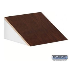 Salsbury Industries - Sloping Hood - for Open Access Designer Locker and Designer Gear Locker - 24 Inc - Sloping Hood - for Open Access Designer Locker and Designer Gear Locker - 24 Inches Deep - Mahogany
