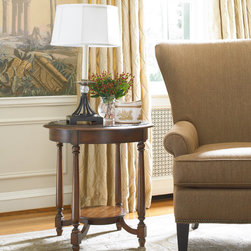 Hooker Furniture - Hooker Furniture Round Accent Table 500-50-829 - This round accent table features a bottom shelf which you can use to display your favorite small item. The table top features a lovely design with a touch of luxury. This table is the prefect height to have chair side.