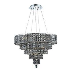 Elegant Lighting - Elegant Lighting 2037D26C-SS/RC Maxim Collection Hanging Fixture - Elegant Lighting 2037D26C-SS/RC Maxim Collection Hanging Fixture