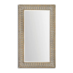 Antique Plated Gold Forged Metal Mirror - Antique Plated Gold Forged Metal Mirror
