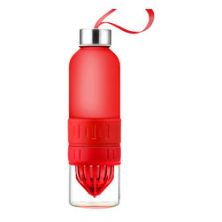 Adnart - Fruit Blender Bottle to Go, Red - The fruit blender 2 go. Instantly refreshes your water with blended fruit on the go!. Improve your health by drinking freish and nutritious blended furit in your water.