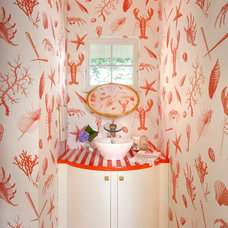 Contemporary Powder Room by Knickerbocker Group