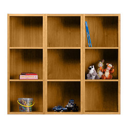 Skovby - Cherry Wall Cabinet - Not just for kids anymore, these comely cubbies look as natural displaying your objets d'art as they do shelving toys. With multiple widths and adjustable shelves, this wall cabinet is the ultimate in modular function.