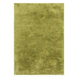 """Loloi Rugs - Loloi Rugs Garden Shag Collection - Lawn, 7'-10"""" x 7'-10"""" Round - Introducing one of our most inventive collections; the first-ever indoor/outdoor shag. Hand woven in India of 100% polyester, Garden Shag offers the same softness and textural appeal of our other shag collections, except this yarn is treated to withstand all of mother nature's elements including sunshine, rain, and dirt. And because the look is so versatile, Garden Shag looks equally at home as an easy-to-clean rug in the dining room or sunroom as it does outdoors."""