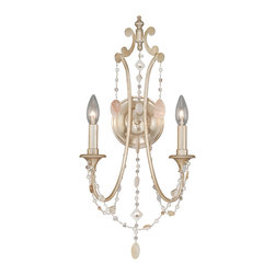 Vaxcel - Anastasia Silver Leaf Wall Sconce - Vaxcel W0007 Anastasia Silver Leaf Wall Sconce