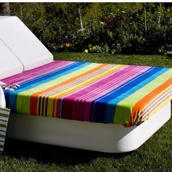 La-Fete - Queen Resort Bed - Features: -All-weather premium yacht vinyl upholstery. -Comfortable Queen-size sun bed with lean bolsters on one end as a headboard or opposite ends for conversation. -Use roll or stack for group lounging and drink tray. -Use as sun bed or for evening chilling.
